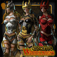 Exnem's Warrioress for V4/A4/G4/Elite/GND/Morphs++ 3D Figure Assets exnem