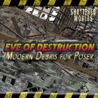 SW_ Eve of Destruction (Modern Ruins for Poser) 3D Models 3D Figure Essentials MRX3010