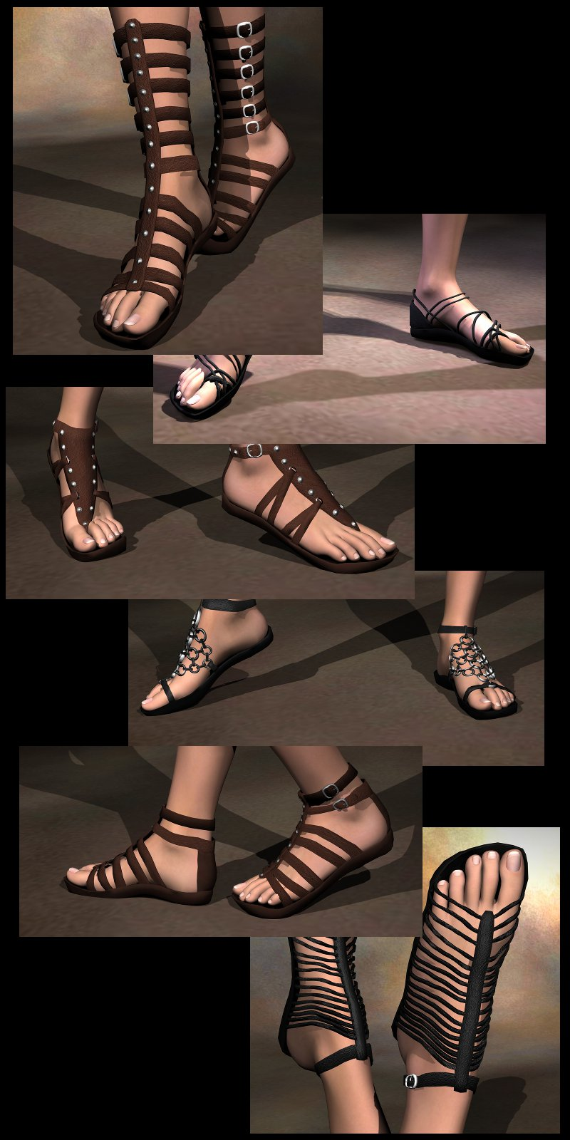 Six Sickle Sandals V4A4