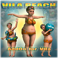Vila Beach 3D Figure Assets 3D Models Nursoda
