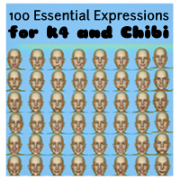 100 Essential Expressions for K4 and Chibi Poses/Expressions ironman13
