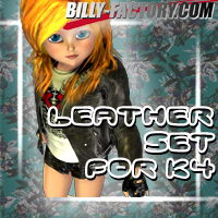 K4  Leather Set 3D Figure Assets billy-t