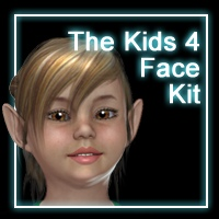 The Kids 4 Face Kit Characters Angela3D