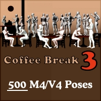 Coffee Break 3 Poses/Expressions Saltaor