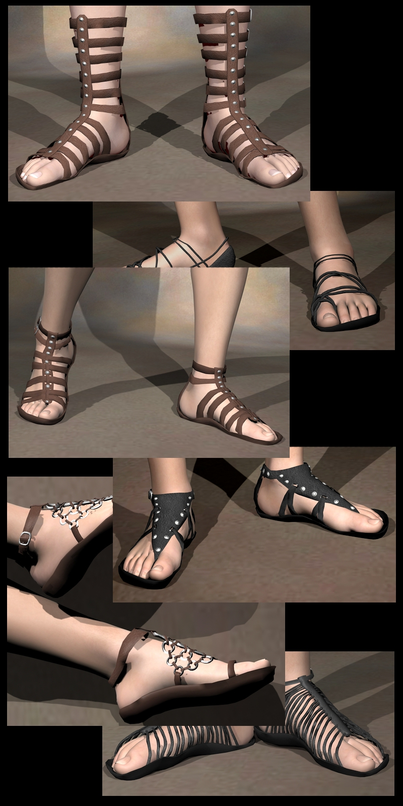 Six Sickle Sandals M4H4