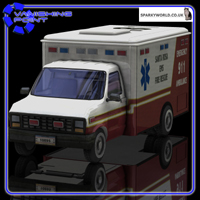 Ambulance (for Poser) Transportation Themed VanishingPoint