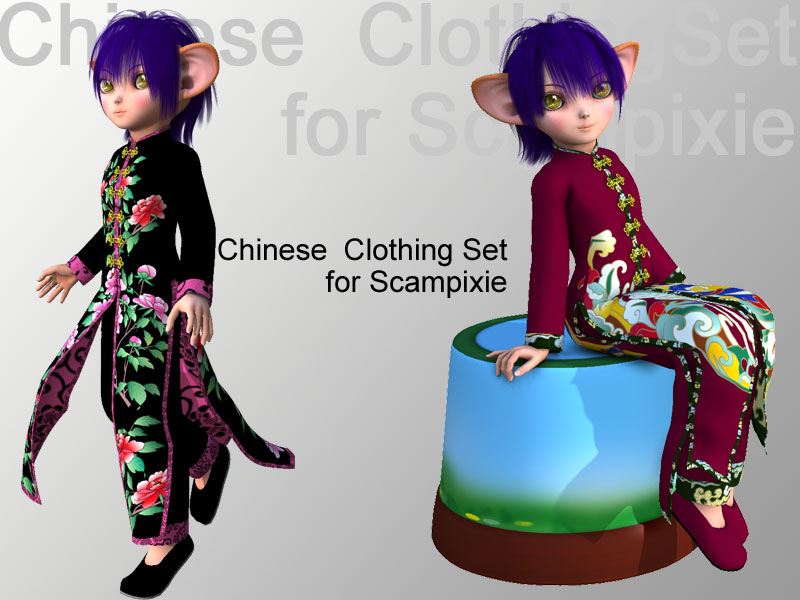 Chinese  Clothing Set for Scampixie