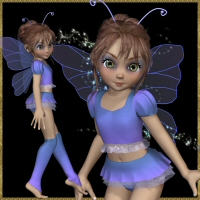 Sadie Outfit-2 Fairy 3D Figure Essentials 3DTubeMagic