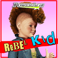 Rebel Kid for K4 3D Figure Assets powerage