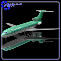 Airliner 727 (for Poser) Themed Transportation VanishingPoint
