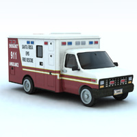 Ambulance (for Vue) 3D Models VanishingPoint