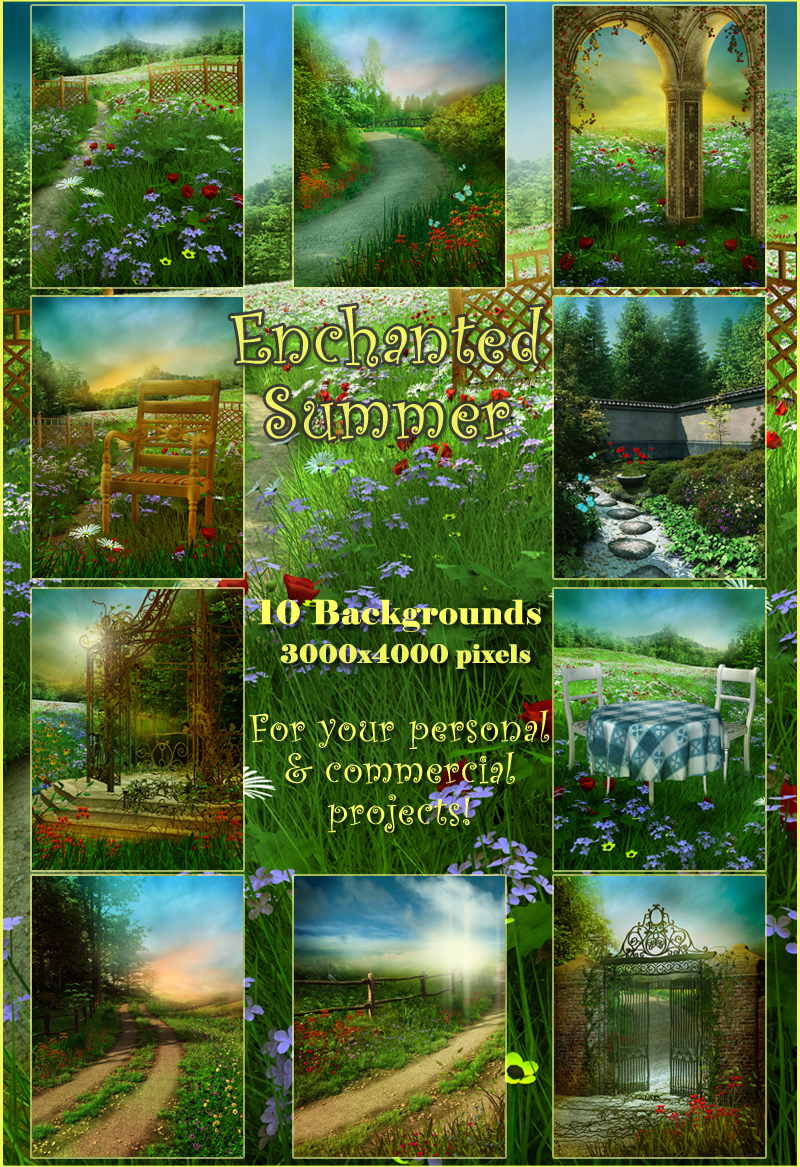 Enchanted Summer Backgrounds