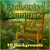 Enchanted Summer Backgrounds Themed 2D And/Or Merchant Resources -Melkor-