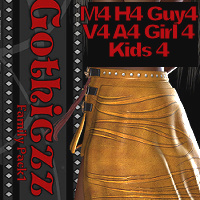 """YoungGothiczz"" Skirt M4 V4 K4 3D Figure Essentials 3D Models WhopperNnoonWalker-"