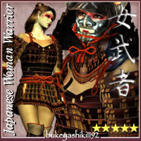 Japanese_Woman_Warrior 3D Figure Essentials 3D Models sugatak