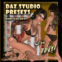 DAZ Presets For !inked Vol 5 2D And/Or Merchant Resources draagonstorm