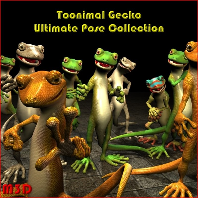 Toonimal Gecko Ultimate Pose Collection