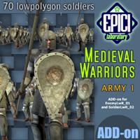 Medieval Warriors 1 3D Figure Essentials 3D Models EPICI