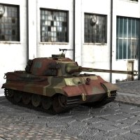 PzVIb King Tiger for Poser 3D Models ranman38