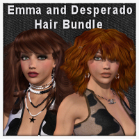 Emma & Desperado Hair Bundle 3D Figure Essentials Propschick