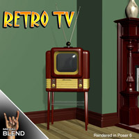 Retro TV 3D Models keppel