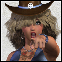 V4 Desperado Poses and Expressions 3D Figure Essentials 3D Models Propschick