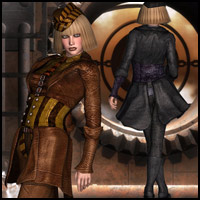 SteamPunk Captain Outfit V4,A4,G4 3D Figure Essentials RPublishing