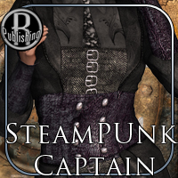 SteamPunk Captain Outfit V4,A4,G4 image 6