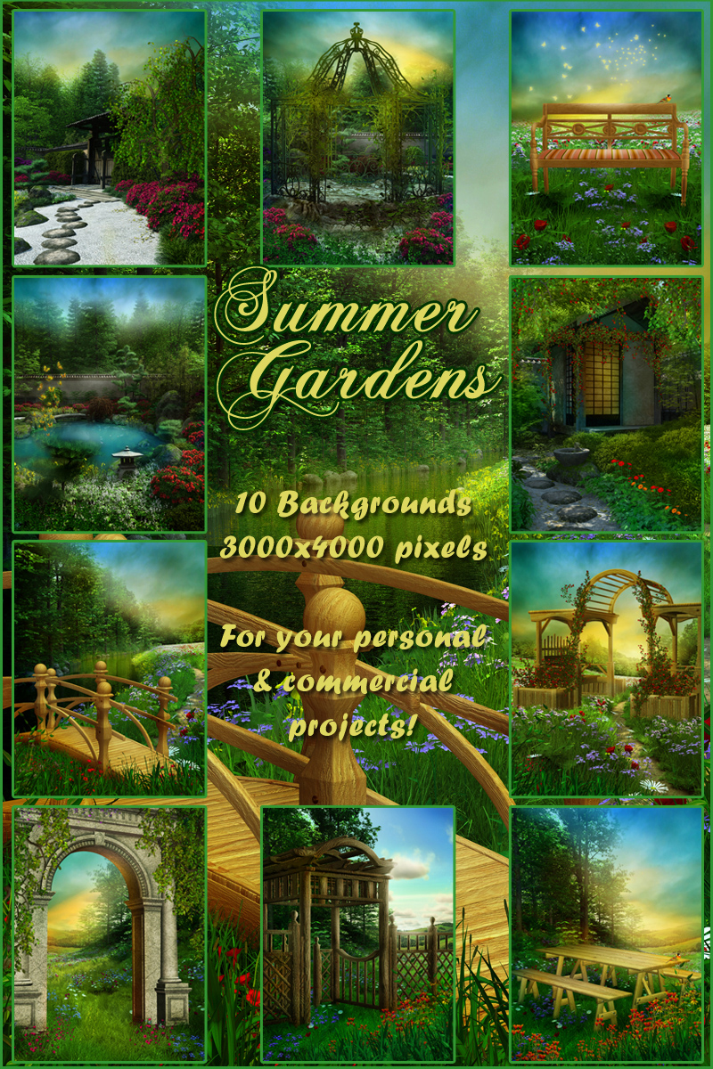Summer Gardens Backgrounds