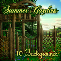 Summer Gardens Backgrounds by -Melkor-