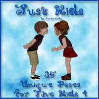 Just Kids 3D Figure Assets -dragonfly3d-