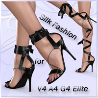 Sandals with Silk Ribbons for V4 A4 G4 Elite 3D Models 3D Figure Essentials Arrin