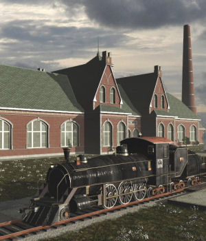 Movie Sets, Grand Junction Station 3D Models DreamlandModels