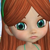 Tegan for Cookie 3D Figure Essentials 3D Models HandspanStudios