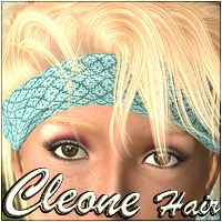 Cleone Hair 3D Figure Assets 3Dream