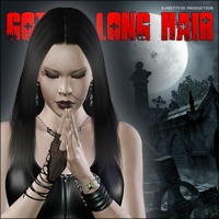 Gothic Long Hair 3D Figure Assets Pretty3D