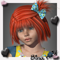 Bina K4 Hair 3D Figure Essentials SWAM
