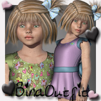 Bina K4 Clothing 3D Figure Essentials SWAM