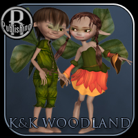 Woodland Fairies for Kali & Kelm 3D Figure Assets 3D Models RPublishing