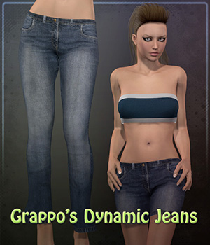 Dynamic Jeans for V4 3D Figure Assets Frequency