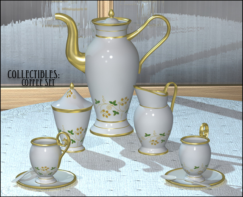Collectibles: Coffee Set by 3-DArena