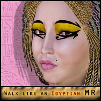 Walk Like an Egyptian: Makeup MR 2D ForbiddenWhispers