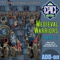 Medieval Warriors 2 3D Models 3D Figure Essentials EPICI