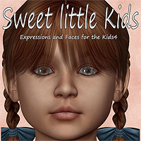 Sweet little Kids 3D Figure Assets anny