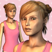 The TeenAger for Stephanie4 3D Figure Assets Oskarsson