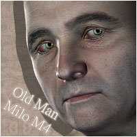 Old Man Milo for M4 3D Figure Assets ForbiddenWhispers