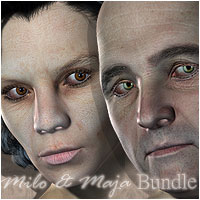 Old Couple Milo & Maja Bundle 3D Figure Assets ForbiddenWhispers