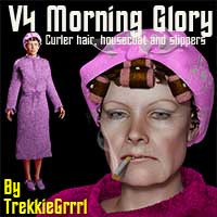 V4 Morning Glory 3D Figure Assets TrekkieGrrrl