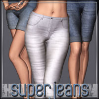 HIGHFASHION Essentials: SuperJeans for V4/A4/G4 3D Models 3D Figure Essentials outoftouch