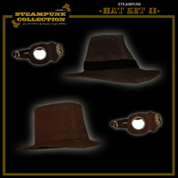 SteamPunk - Hat Set II 3D Figure Assets 3D Models jonnte